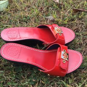 Shoes - Tory Burch red leather shoes 8